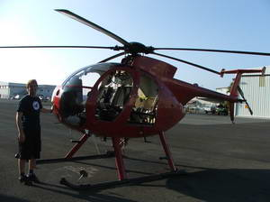 MD500 & ich am Honolulu Int. Airport